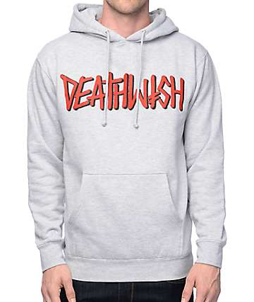 Deathwish Death Spray Grey Hoodie