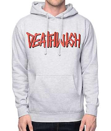 Deathwish Death Spray Grey Hoodie