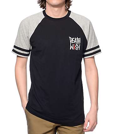 Deathwish Death Stack Black Raglan T-Shirt