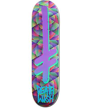 "Deathwish Gang Logo Kaleidoscope 8.1"" Skateboard Deck"