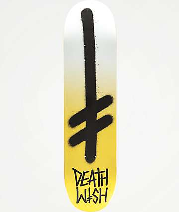 "Deathwish Gang Logo Metallic Gold 7.75"" Skateboard Deck"