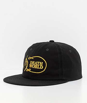 Deathworld Chainstitch gorra strapback en negro