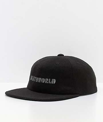Deathworld Continental Black Strapback Hat