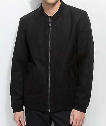 Deathworld Sanichar chaqueta bomber en negro