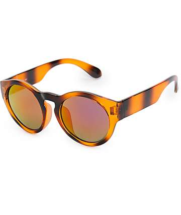 Del Ray Rounded Tortoise Revo Sunglasses
