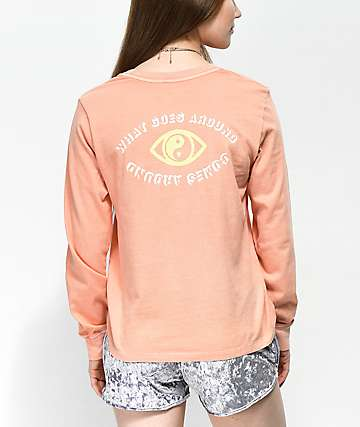 Desert Dreamer What Goes Around Coral Long Sleeve T-Shirt