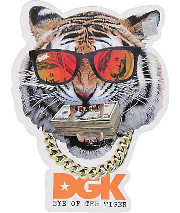 Dgk Eye Of The Tiger Sticker