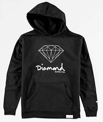 Diamond Boys OG Sign Black Hoodie