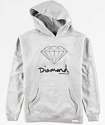 Diamond Boys OG Sign Grey Hoodie