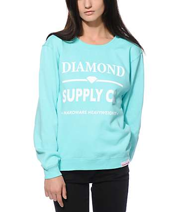 Diamond Supple Hardware Lock Crew Neck Sweatshirt