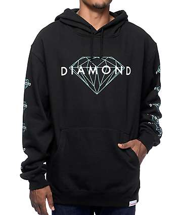 Diamond Supply Brillian sudadera con capucha negra