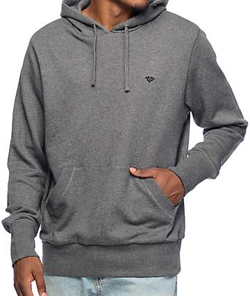 Diamond Supply CO Micro Brilliant Heather Charcoal Hoodie