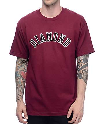 Diamond Supply Co Arc Burgundy T-Shirt