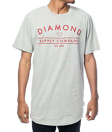 Diamond Supply Co Arch Lock Up Grey Long T-Shirt