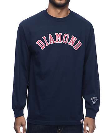 Diamond Supply Co Arch Navy Long Sleeve T-Shirt