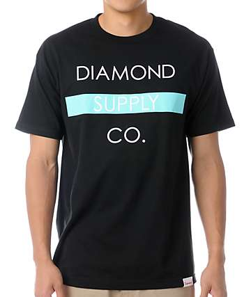 Diamond Supply Co Bar Logo Black T-Shirt