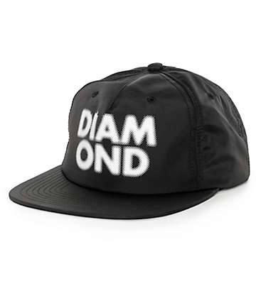 Diamond Supply Co Black Blur Clip Back Hat