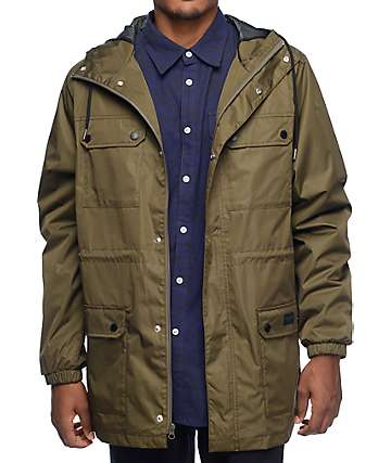 Diamond Supply Co Blur Waterproof Olive Jacket