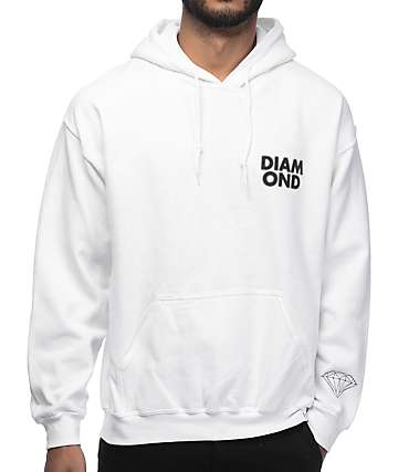 Diamond Supply Co Blur White Hoodie