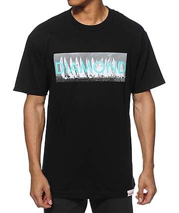 Diamond Supply Co Boat Text T-Shirt