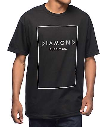 Diamond Supply Co Boxed In Black T-Shirt