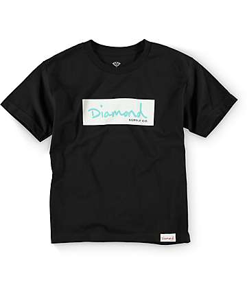 Diamond Supply Co Boys DMND Box Logo Black T-Shirt