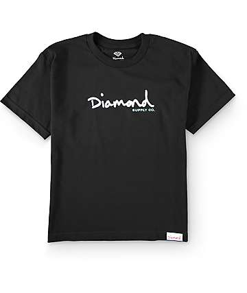 Diamond Supply Co Boys OG Script Black T-Shirt