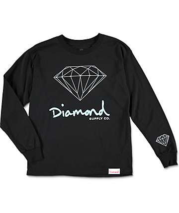 Diamond Supply Co Boys OG Sign Long Sleeve T-Shirt