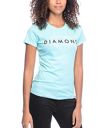 Diamond Supply Co Brilliant Blue Boyfriend T-Shirt