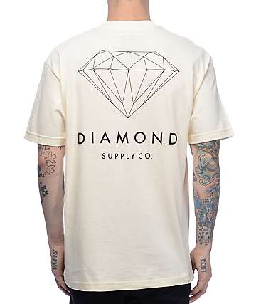 Diamond Supply Co Brilliant Cream T-Shirt