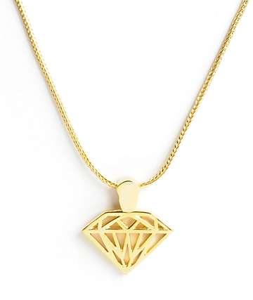 Diamond Supply Co Brilliant Gold Necklace