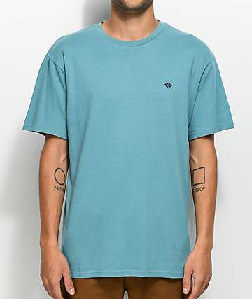 Diamond Supply Co Brilliant Slub Blue T-Shirt