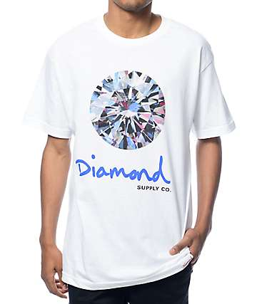 Diamond Supply Co Brilliant White T-Shirt