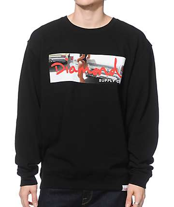 Diamond Supply Co Cali Life Crew Neck Sweatshirt