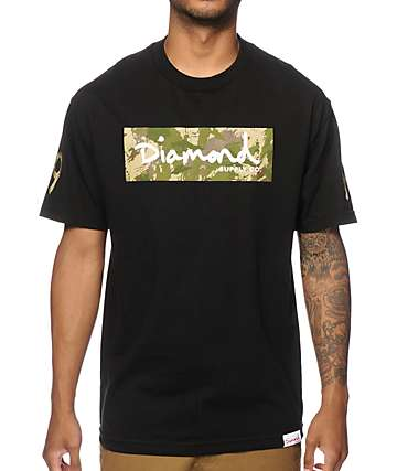 Diamond Supply Co Camo Box Logo T-Shirt