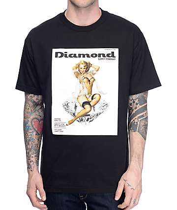 Diamond Supply Co Centerfold Black T-Shirt