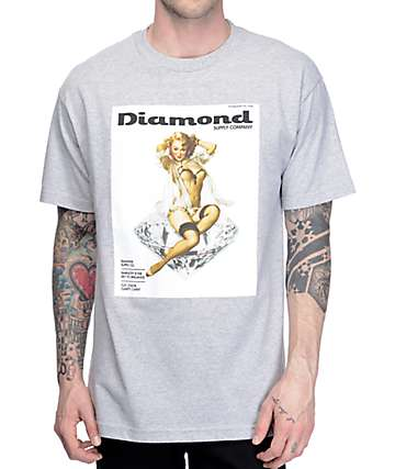 Diamond Supply Co Centerfold Heather Grey T-Shirt