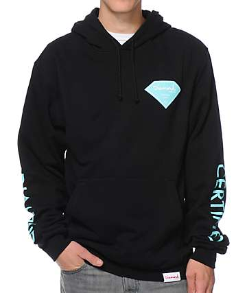 Diamond Supply Co Certified Lifer Black Pullover Hoodie