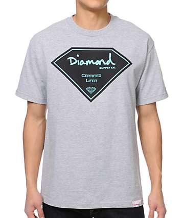 Diamond Supply Co Certified Lifer Heather Grey T-Shirt