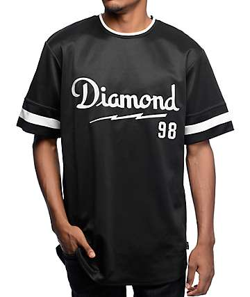 Diamond Supply Co Champagne Script Black Jersey