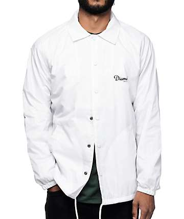 Diamond Supply Co Champagne White Coaches Jacket