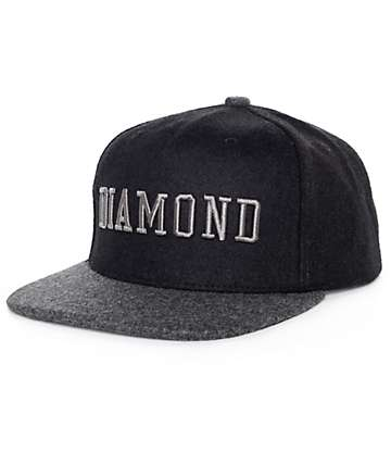 Diamond Supply Co College Black Snapback Hat