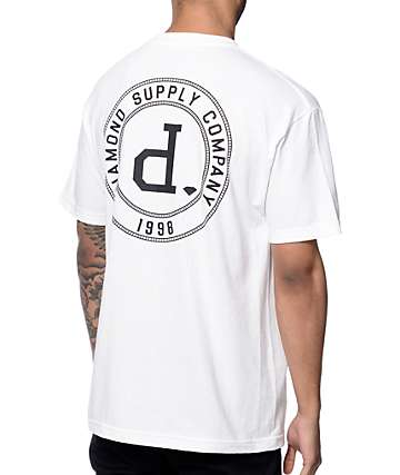 Diamond Supply Co College Seal White T-Shirt