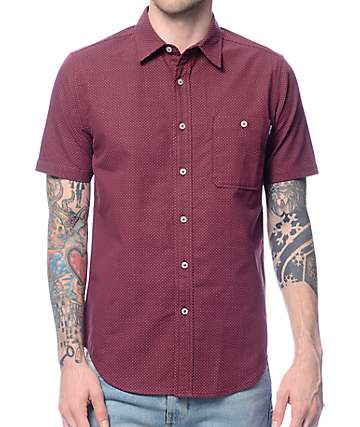 Diamond Supply Co Covington Burgundy Button Up Shirt