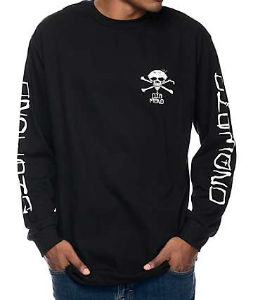 Diamond Supply Co Crossbones Black Long Sleeve T-Shirt