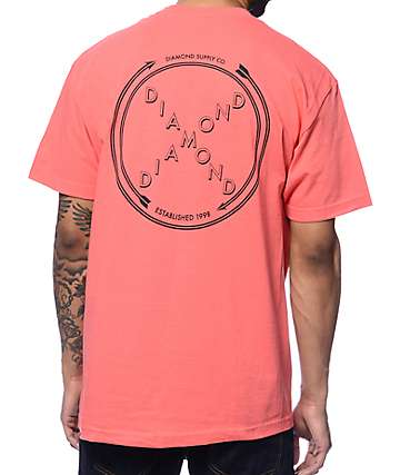 Diamond Supply Co Crossed Up Salmon T-Shirt