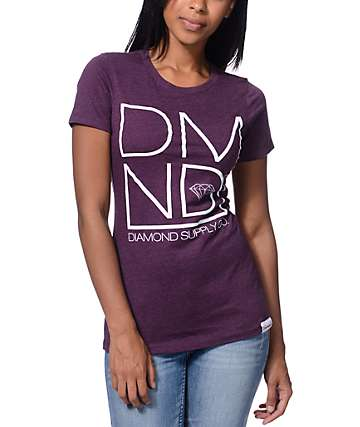 Diamond Supply Co DMND Plum Boyfriend Fit T-Shirt