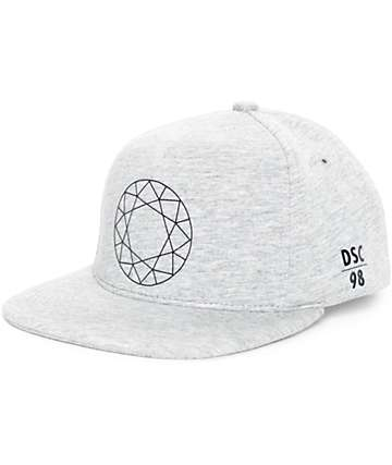 Diamond Supply Co DTC Heather Grey Strapback Hat