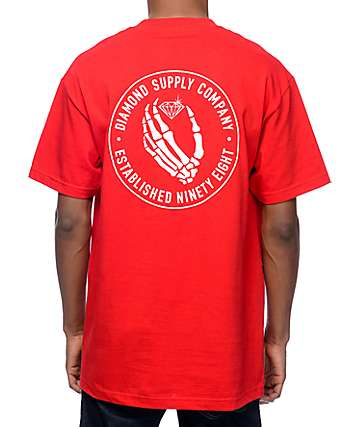 Diamond Supply Co Death Dealers Red T-Shirt