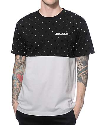 Diamond Supply Co Deco Black & Grey Colorblock T-Shirt